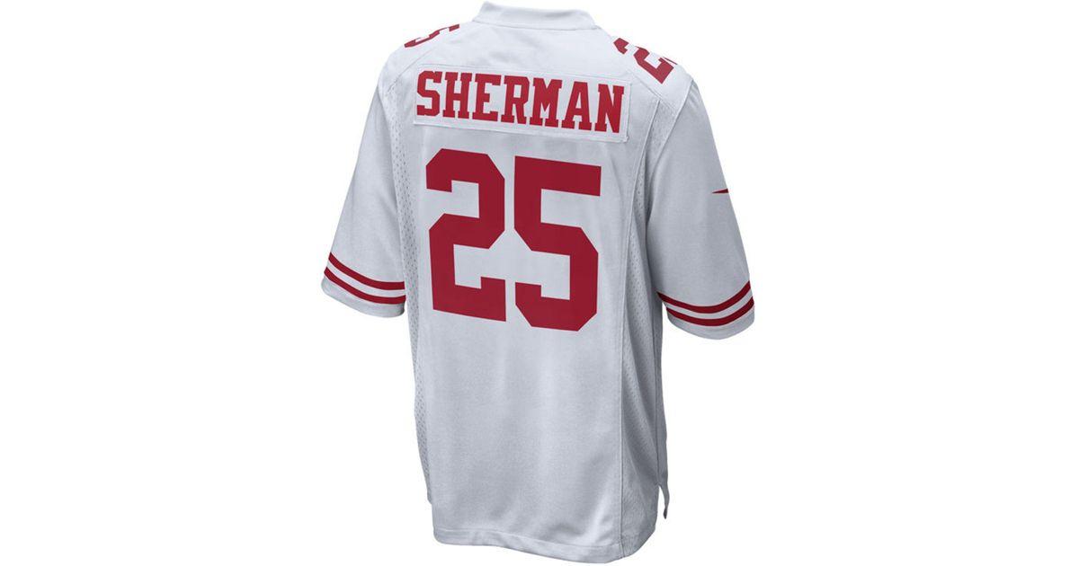 outlet store 4b518 67540 Nike White Richard Sherman San Francisco 49ers Game Jersey for men