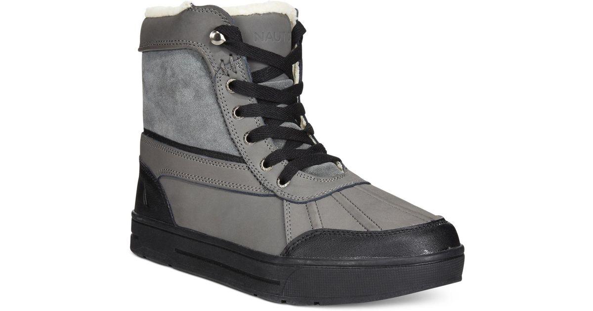 Lockview Winterized Duck Boots in Grey