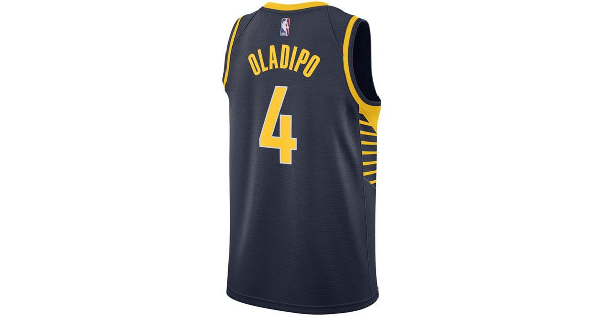 ce639dcd2000 ... where to buy lyst nike victor oladipo indiana pacers icon swingman  jersey in blue for men ...
