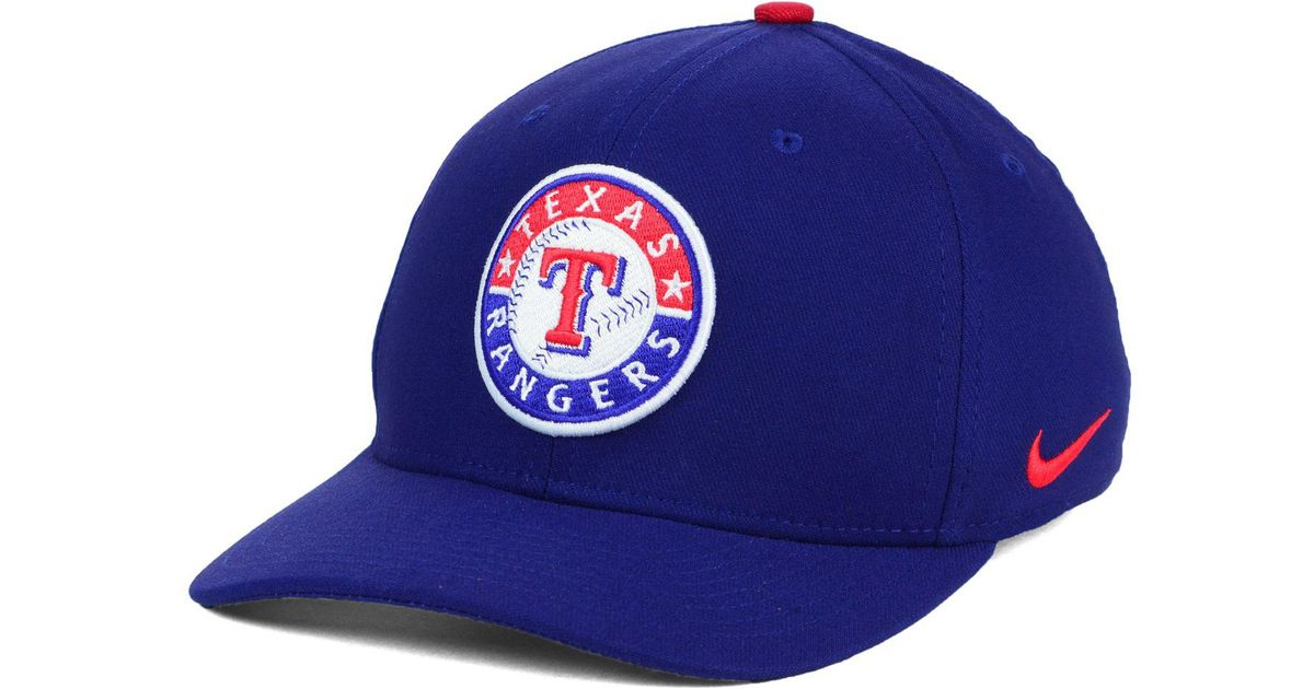 meet 0b68d 70ae8 ... new zealand lyst nike texas rangers classic swooshflex cap in blue for  men 817f2 45930