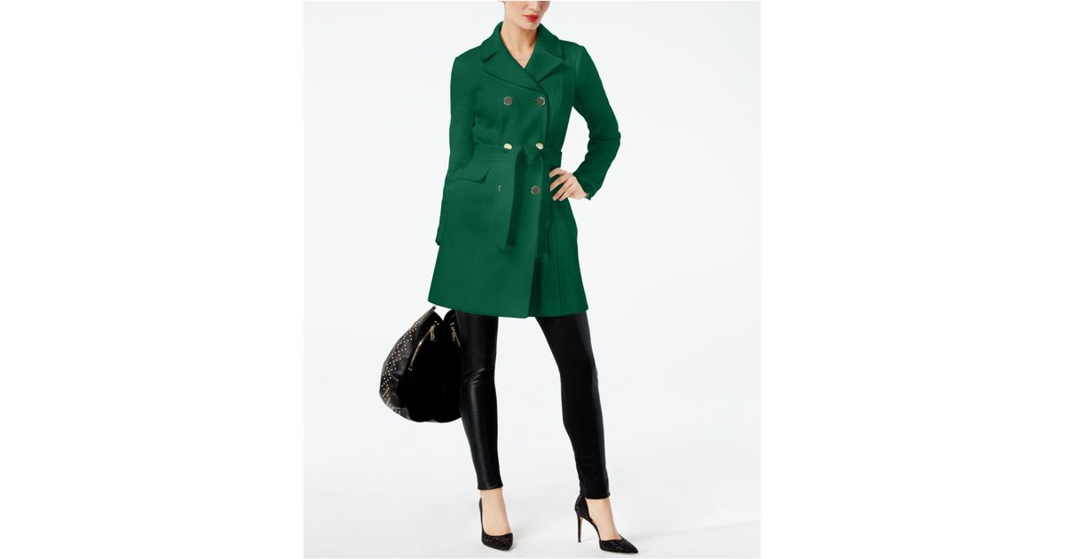 Deep Black, ... INC International Concepts Women/'s Colorblocked Ponte Knit Coat