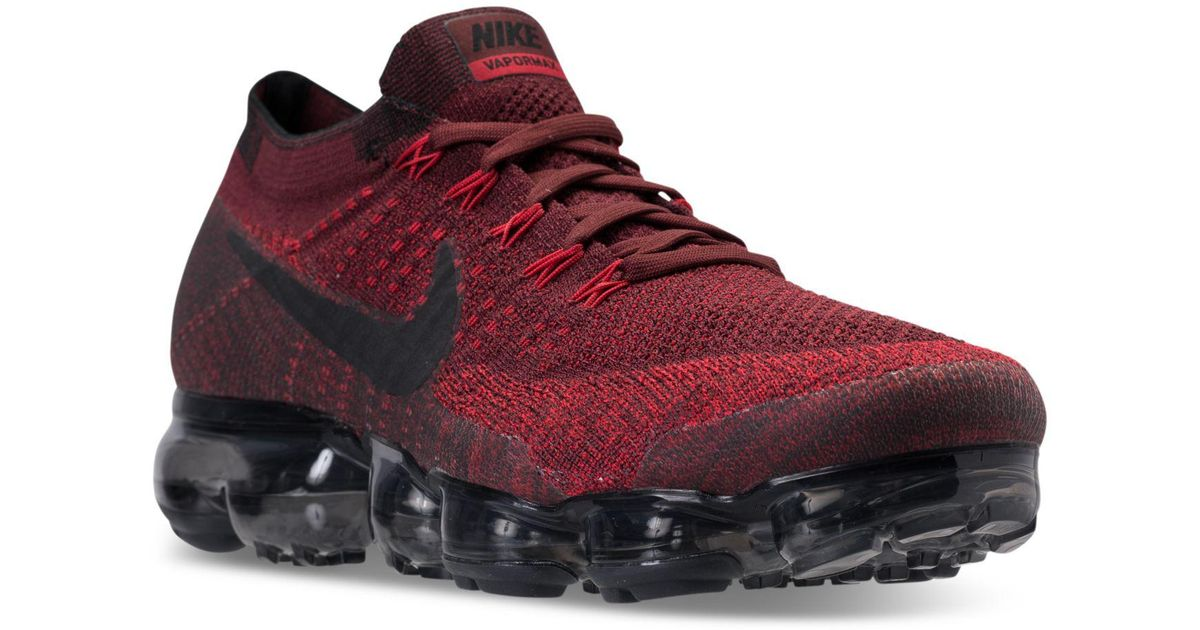 cdbca913c5714 Lyst - Nike Men s Air Vapormax Flyknit Running Sneakers From Finish Line in  Red for Men