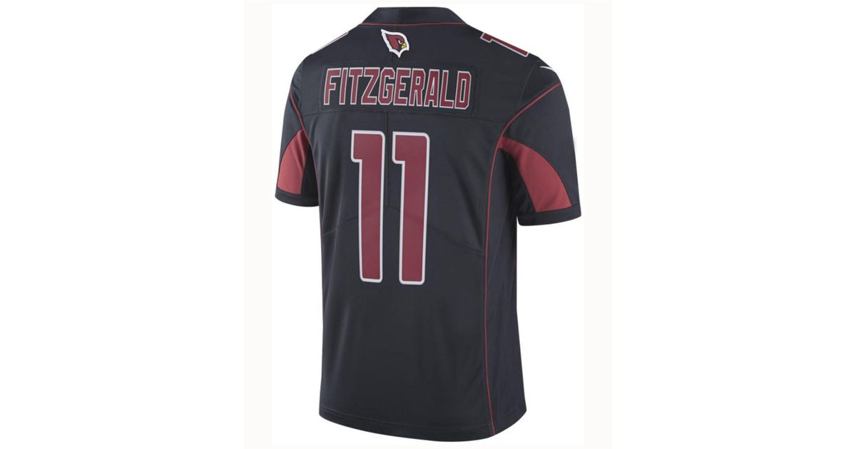 meet 4dd6a 4da9b Nike Black Larry Fitzgerald Arizona Cardinals Limited Color Rush Jersey for  men