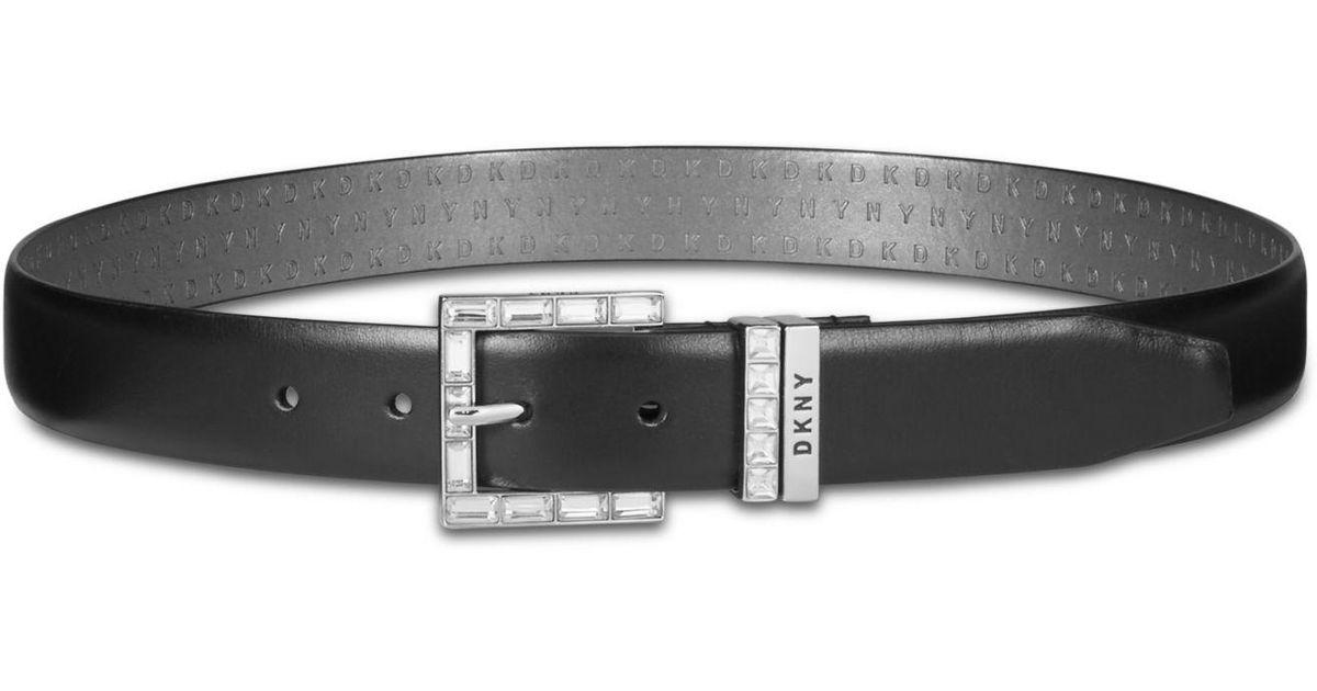 Rhinestone buckle belt