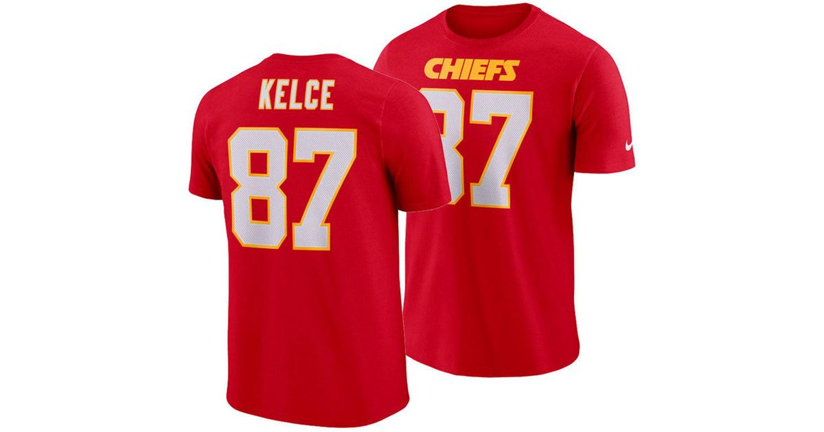 Lyst - Nike Travis Kelce Kansas City Chiefs Pride Name And Number Wordmark T -shirt in Red for Men 43f61e882