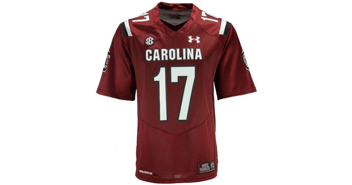 official photos 290b3 cd494 Under Armour Red South Carolina Gamecocks Replica Football Jersey for men