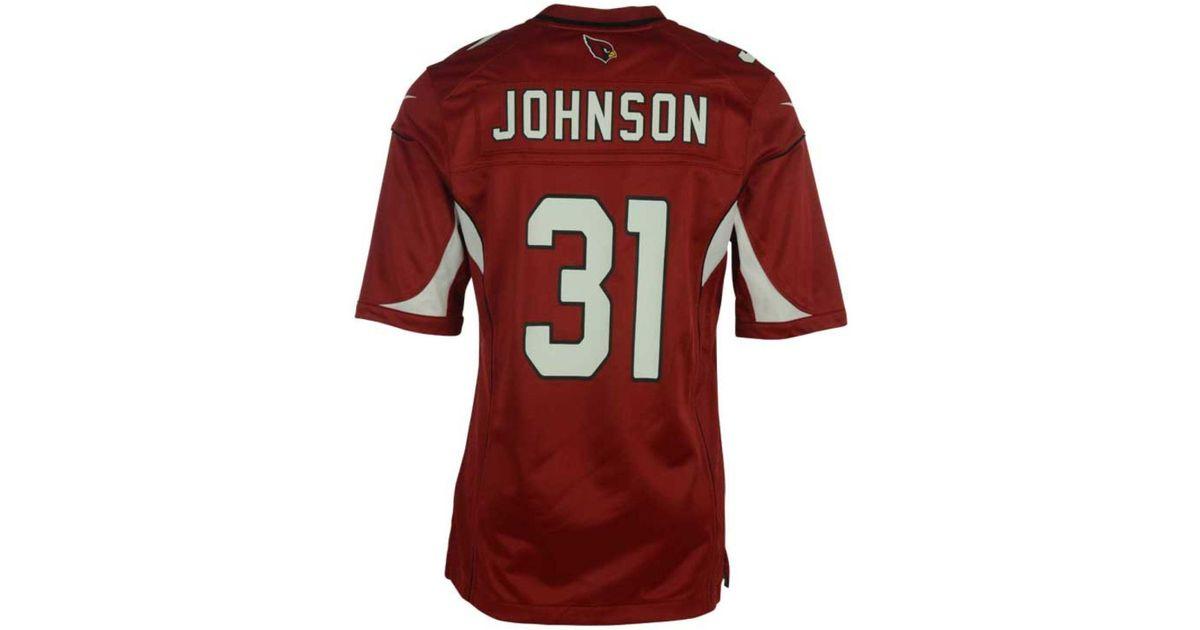 Wholesale Nike Men's David Johnson Arizona Cardinals Game Jersey in Red for