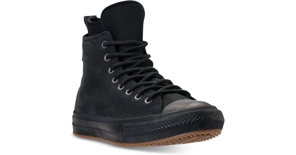 b0a06f3aca40d0 Lyst - Converse Chuck Taylor All Star Waterproof Boot Nubuck Hi Casual  Sneakers From Finish Line in Black for Men
