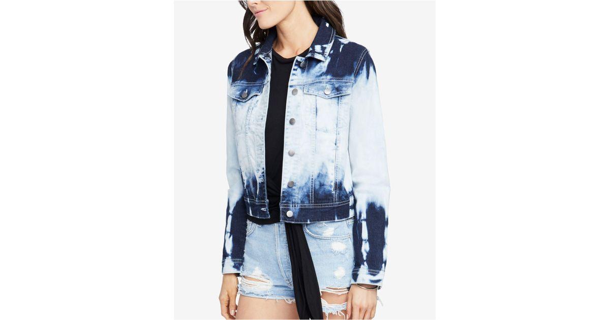 2979f6a55a8a4 RACHEL Rachel Roy Tie Dye Denim Jacket in Blue - Lyst