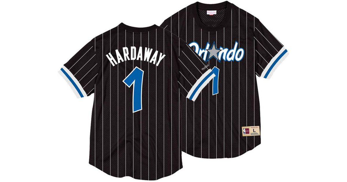 separation shoes 1d65f df1a2 Mitchell & Ness Black Penny Hardaway Orlando Magic Name And Number Mesh  Crewneck Jersey for men