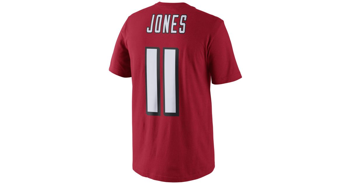 finest selection 9764e 395f1 Nike - Red Julio Jones Atlanta Falcons Pride Name And Number T-shirt for  Men - Lyst
