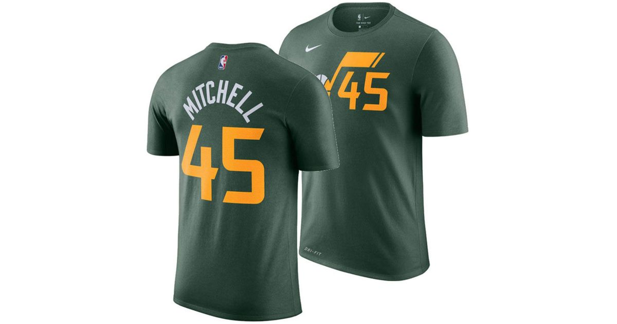 d83074d596ea Nike Donovan Mitchell Utah Jazz City Edition Dri-fit Nba T-shirt in Green  for Men - Save 23% - Lyst