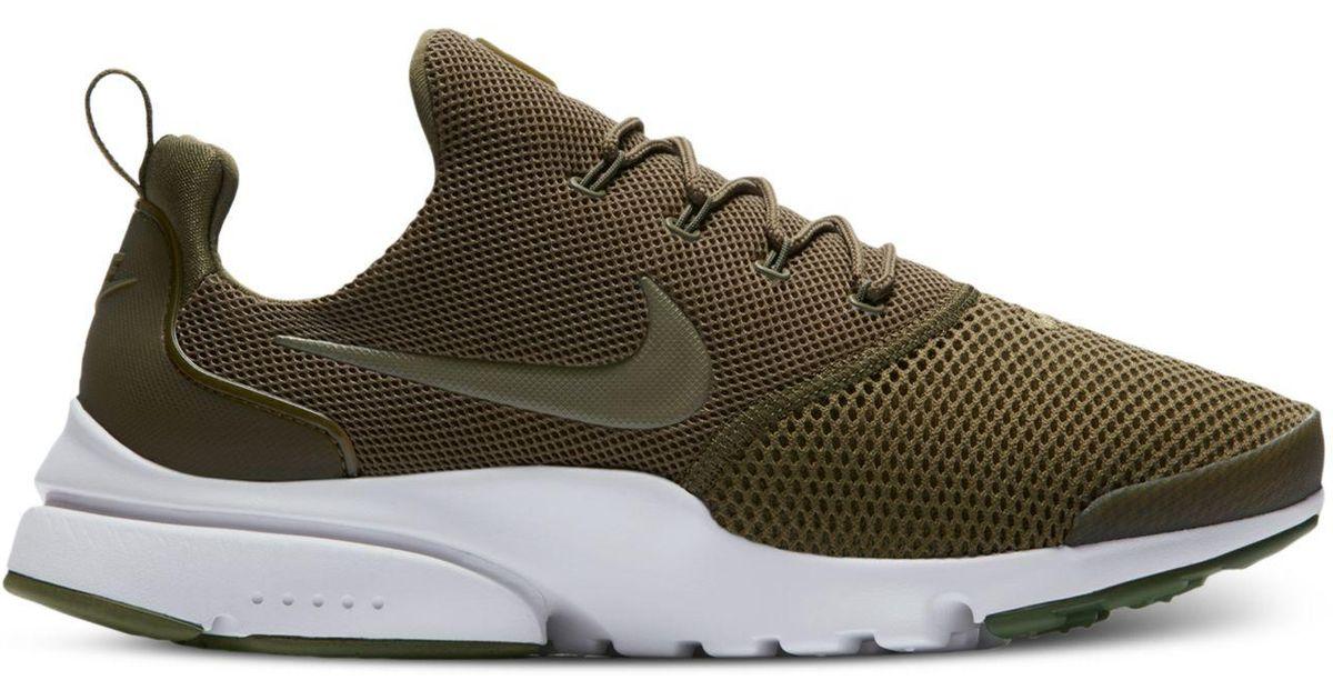 Lyst - Nike Men's Presto Fly Running Sneakers From Finish Line in Green for  Men