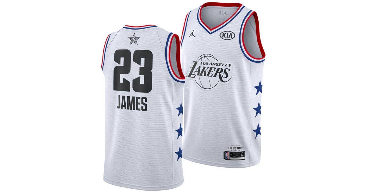 best service ff46f d0b06 Nike White Lebron James Nba All-star Game Swingman Jersey for men