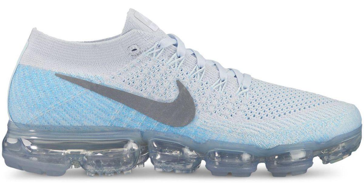 online retailer 79c5b 63ef9 Nike Blue Women's Air Vapormax Flyknit Running Sneakers From Finish Line