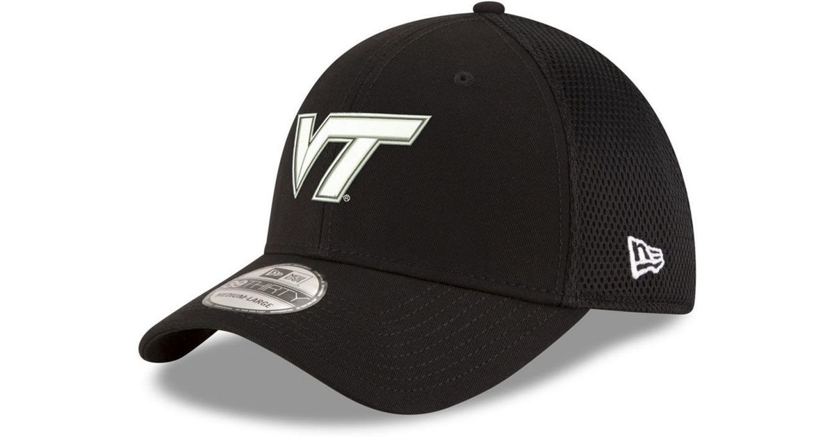 Lyst - Ktz Virginia Tech Hokies Black White Neo 39thirty Cap in Black for  Men 368fc0921
