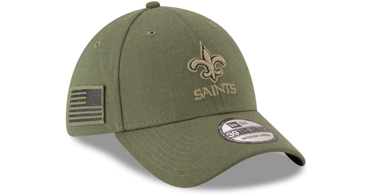 Lyst - KTZ New Orleans Saints Salute To Service 39thirty Cap in Green for  Men 9a8a89d73