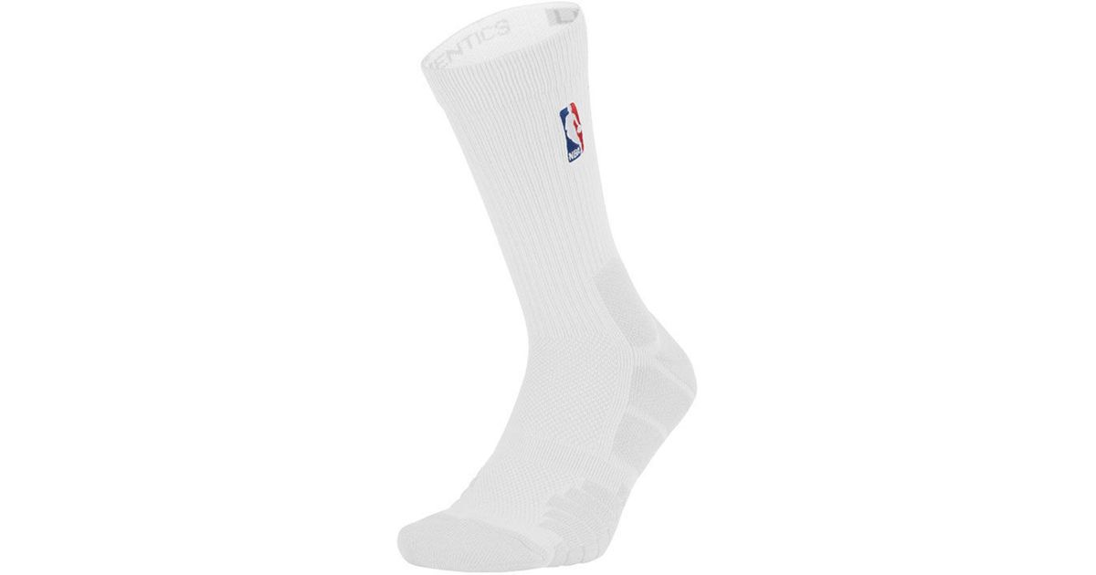 best sneakers 16003 b6271 Nike Nba All Star Elite Quick Jordan Crew Socks in White for Men - Lyst