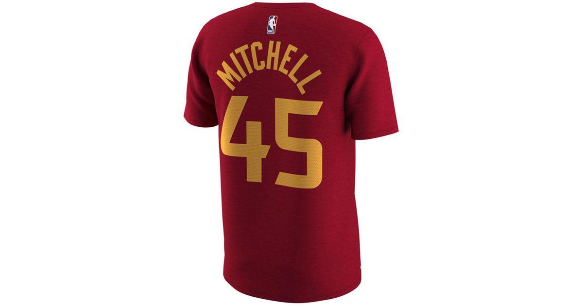 09cfc4dbc Nike Donovan Mitchell Utah Jazz City Player T-shirt in Red for Men - Lyst