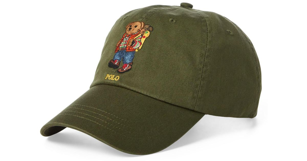 68eab60f6 Polo Ralph Lauren Green Great Outdoors Polo Bear Baseball Cap for men