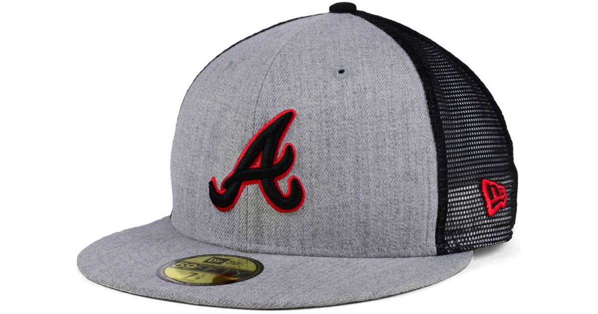 15642659174 ... amazon lyst ktz atlanta braves new school mesh 59fifty fitted cap for  men d61b0 53e0f