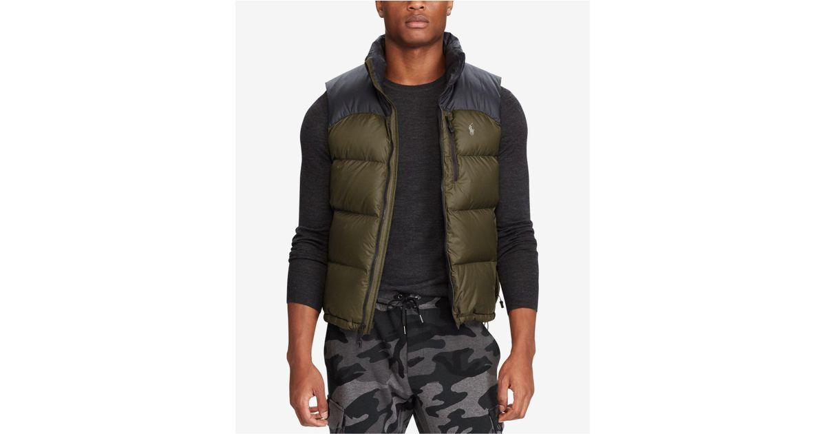 Lyst - Polo Ralph Lauren Men\u0027s Water-repellent Down Vest in Green for Men