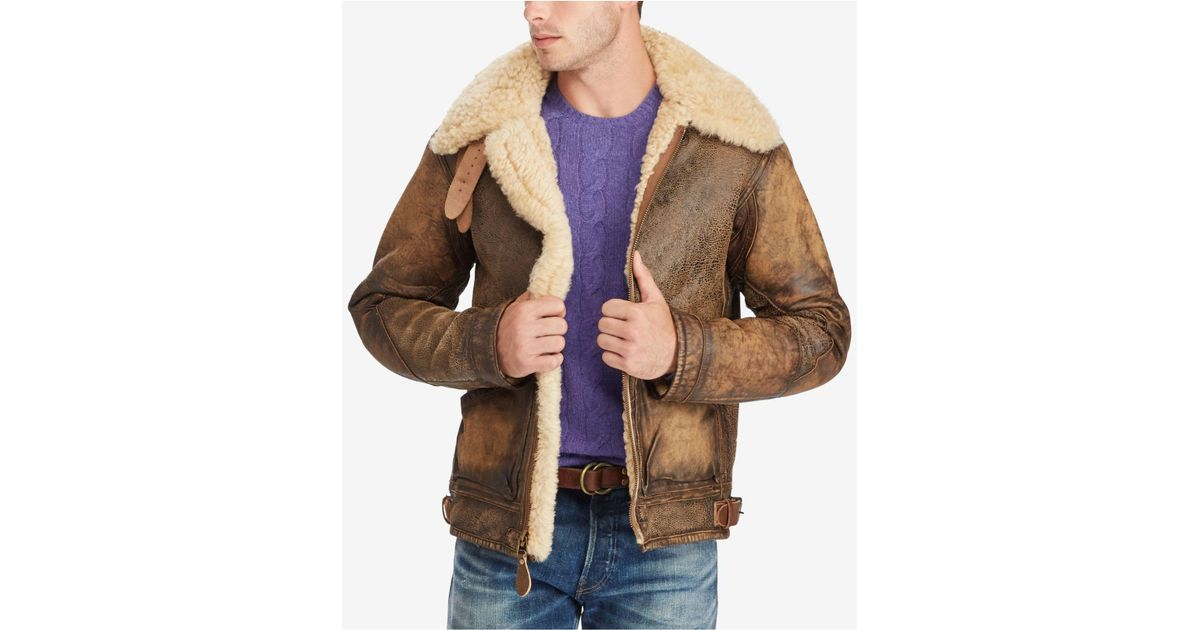 Lyst Polo Ralph Lauren The Iconic Bomber Jacket In Brown For Men