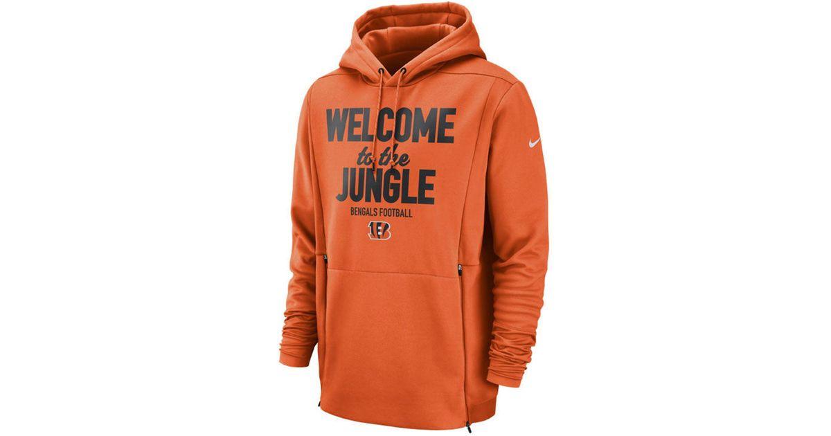 f946f71e Nike Orange Nfl Sideline Local Player Fleece Hoodie for men