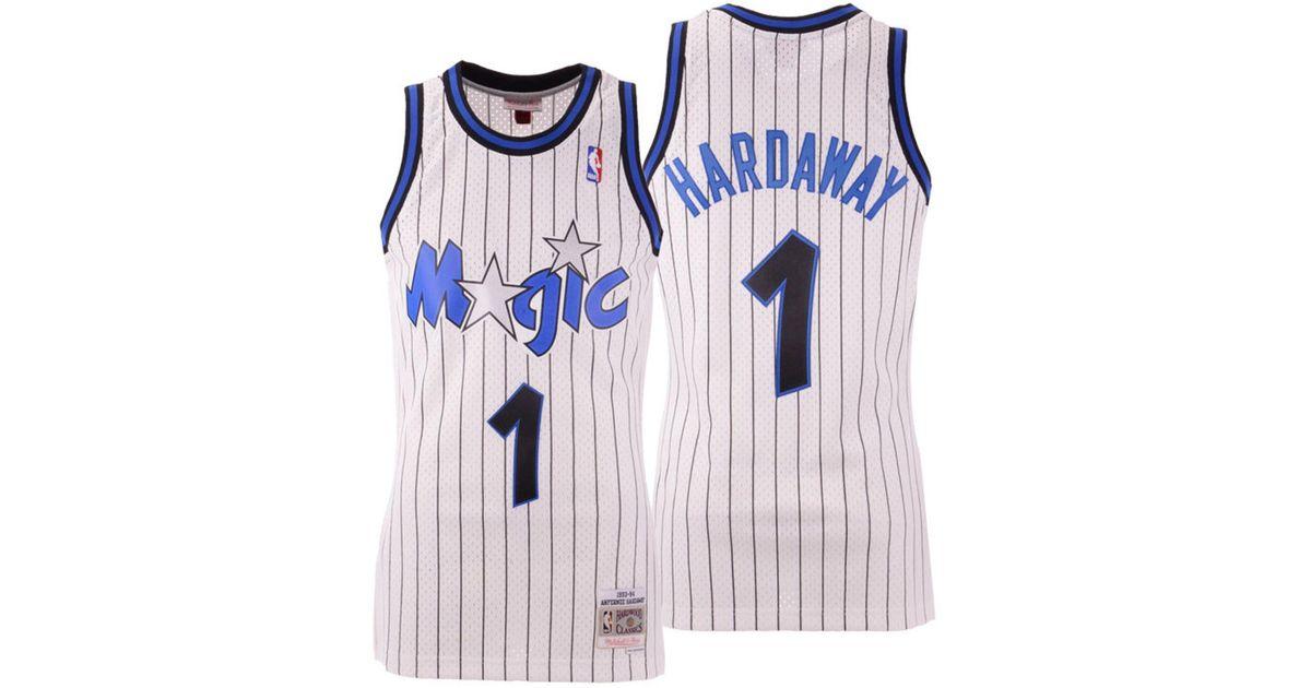 Mitchell & Ness White Penny Hardaway Orlando Magic Hardwood Classic Swingman Jersey for men