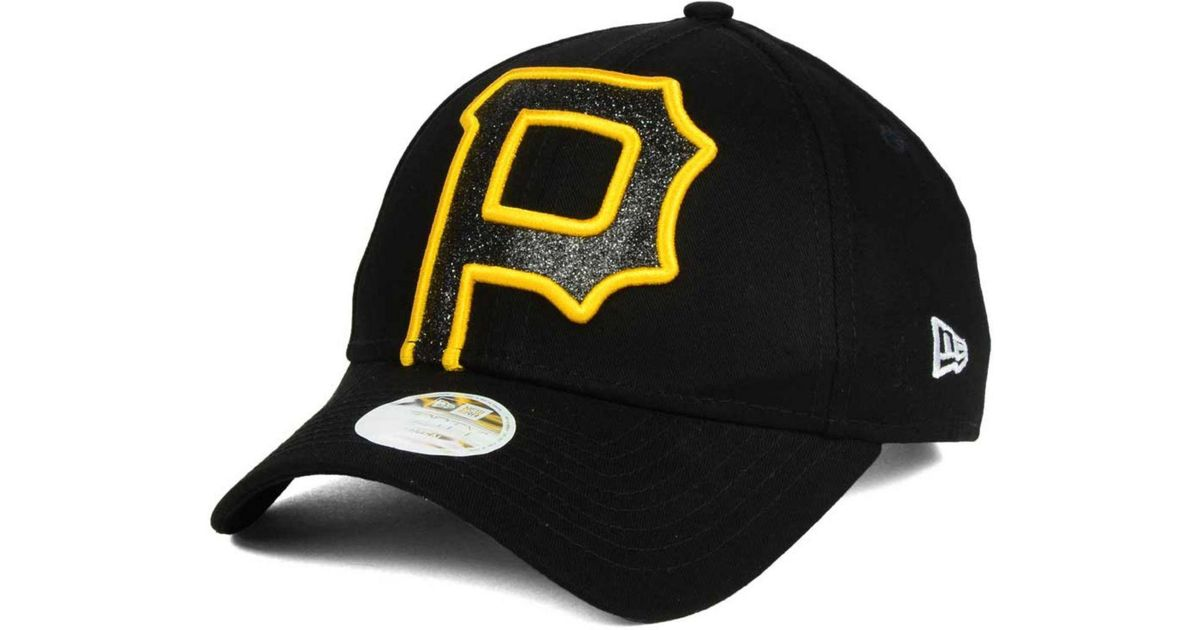 purchase cheap 05c02 1164a Lyst - Ktz Pittsburgh Pirates Glitter Glam 9forty Strapback Cap in Black  for Men