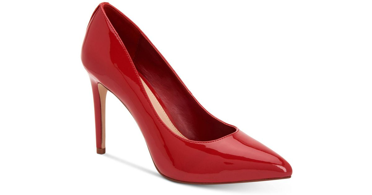 33eb05a368 Lyst - BCBGeneration Heidi Leather Pump in Red