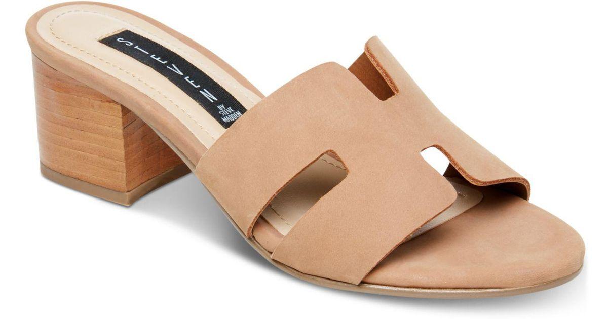 722c550a2a6 Lyst - Steven by Steve Madden Foreva Slide Sandal in Natural - Save 80%