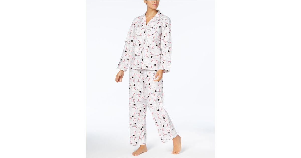 0814297337 Lyst - Charter Club Printed Cotton Flannel Pajama Set