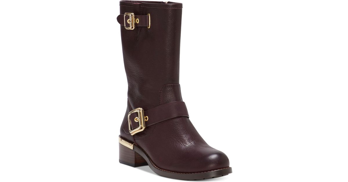 64507f76574 Vince Camuto Brown Windy Moto Boots