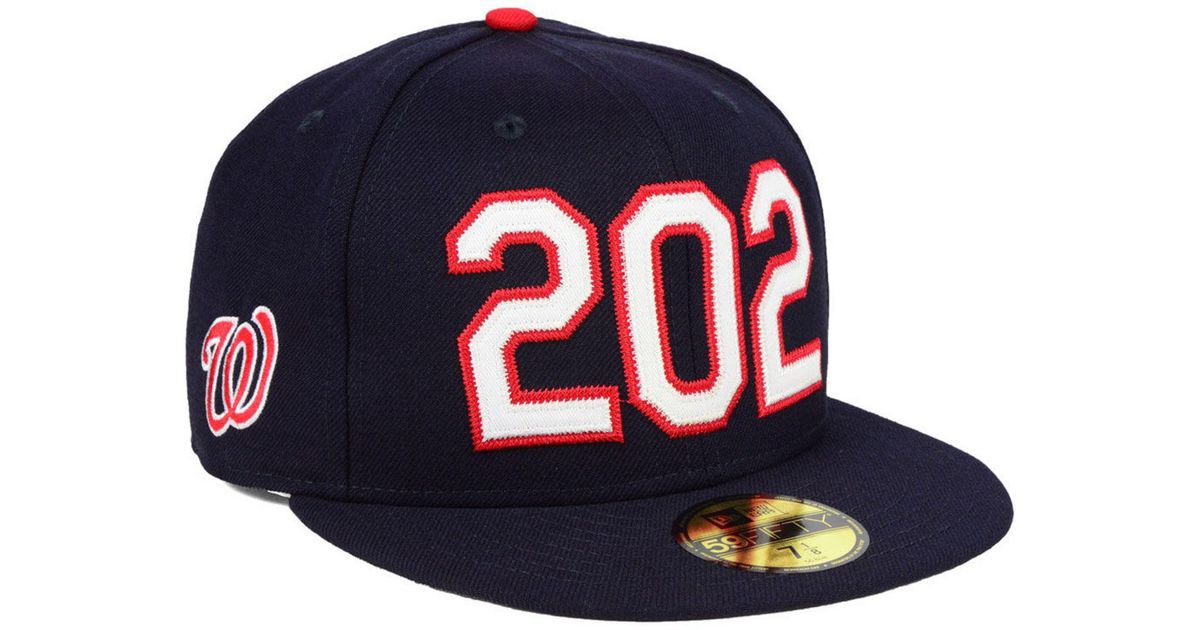big discount the sale of shoes great prices KTZ Wool Washington Nationals Area Code 59fifty Fitted Cap in Navy ...