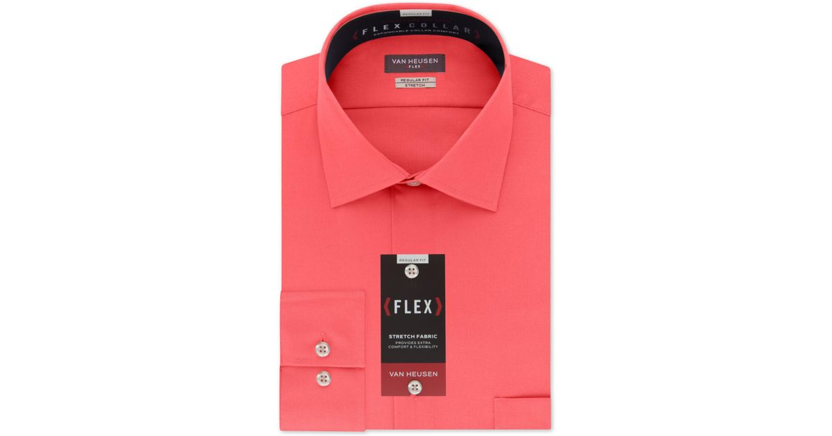 Mens Van Heusen Flex Collar Stretch Regular Fit Dress Shirt NWT Wrinkle Free