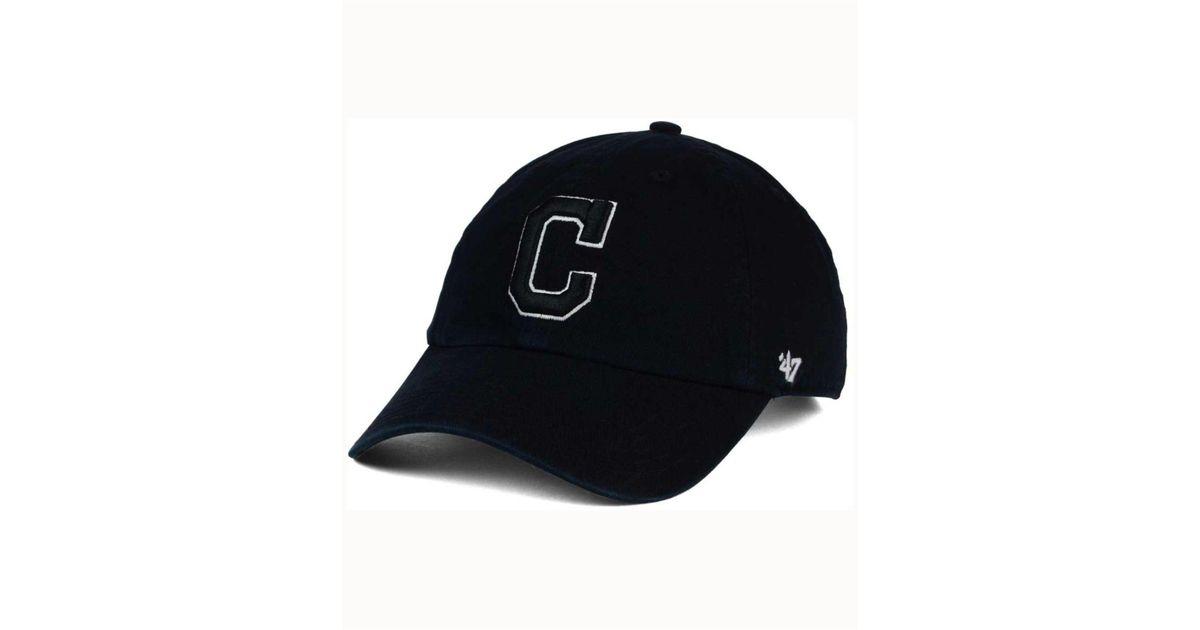 b826c21cb 47 Brand Cleveland Indians Black White Clean Up Cap in Black for Men - Lyst