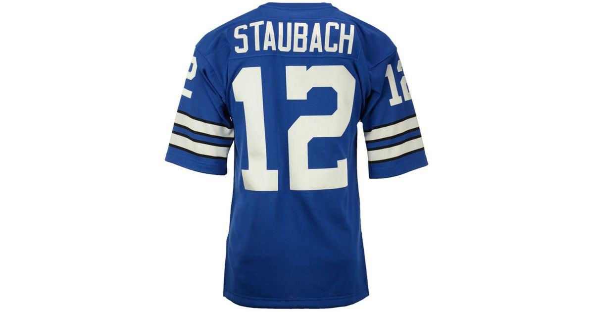 Mitchell & Ness Blue Roger Staubach Dallas Cowboys Authentic Football Jersey for men