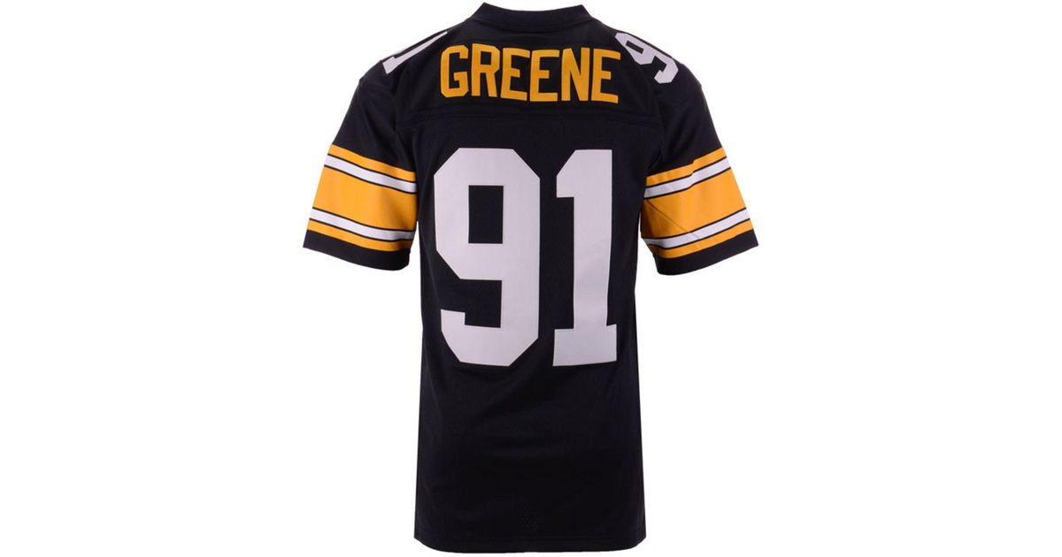 a2aa5b534 Mitchell   Ness Kevin Greene Pittsburgh Steelers Replica Throwback Jersey  in Black for Men - Lyst