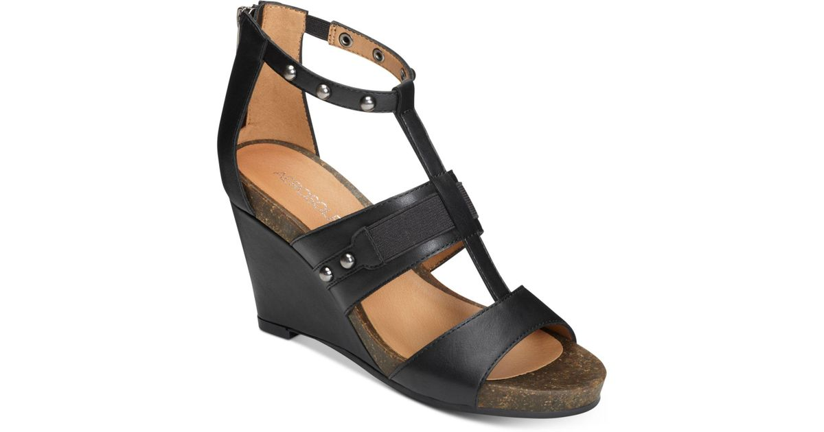Lyst Watermark Sandal Aerosoles Black Wedge SVLqpUzMG
