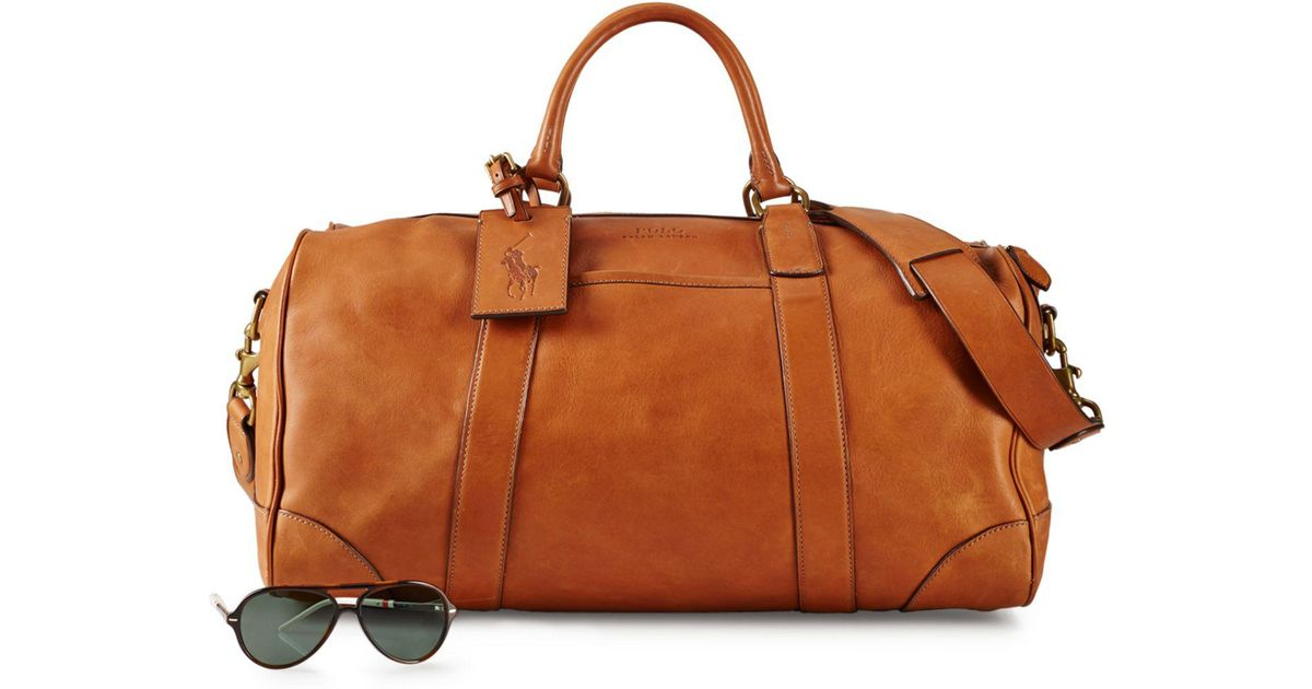 39eac05f8b Lyst - Polo Ralph Lauren Leather Duffel Bag in Brown for Men