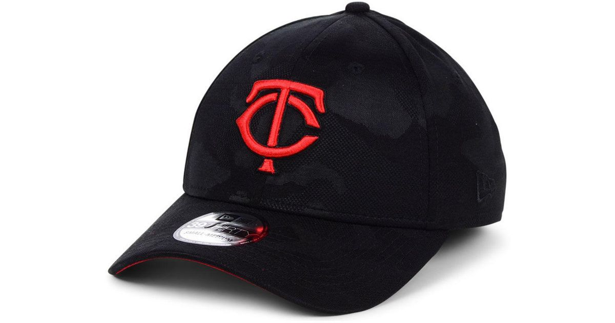 thoughts on official supplier super cute KTZ Synthetic Minnesota Twins Tonal Camo 39thirty Cap in Black/Red ...