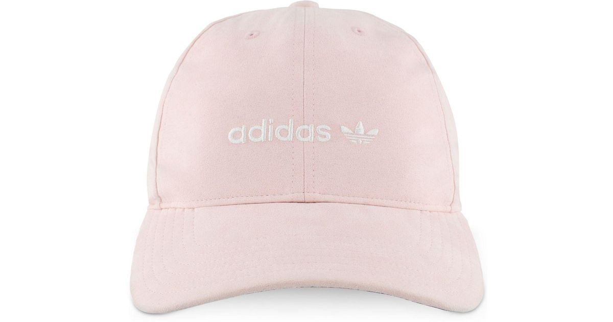 Lyst - adidas Originals Cotton Relaxed Cap in Pink 495b8df435b