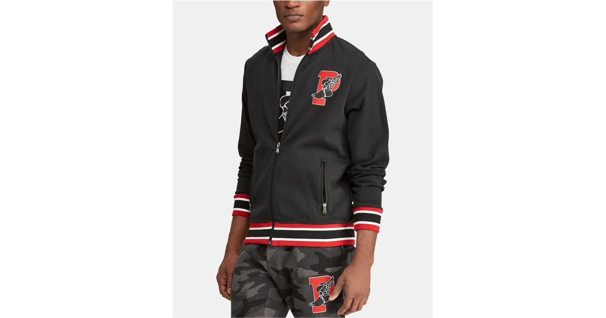 58371a7e83 Polo Ralph Lauren Black Big & Tall P-wing Cotton Track Jacket for men