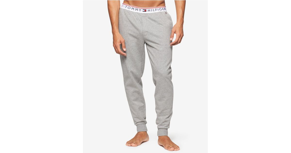 Tommy Hilfiger Men's Relaxed Fit Modern Essential Cotton Logo Lounge Pant Jogger