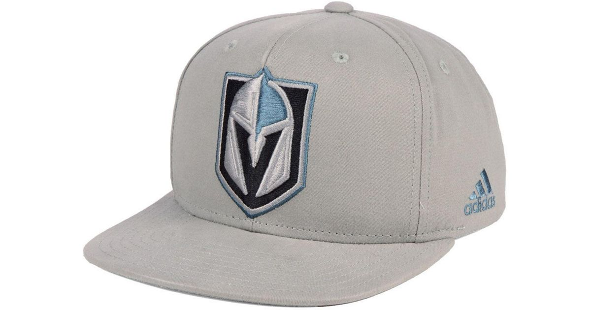01f3ca55 ... clearance lyst adidas vegas golden knights grey pop snapback cap in  gray for men adafb e4cee