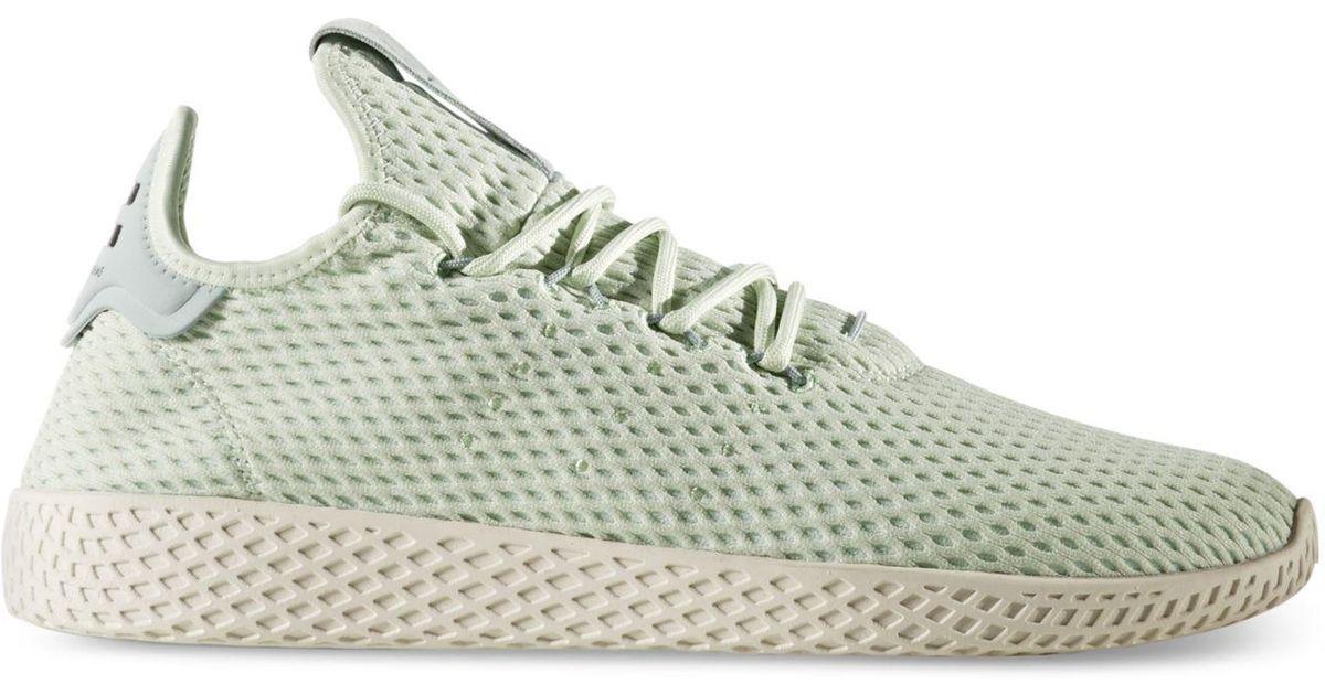5bb6b6fd54f84 Lyst - adidas Men s Originals Pharrell Williams Tennis Hu Casual Sneakers  From Finish Line in Green for Men