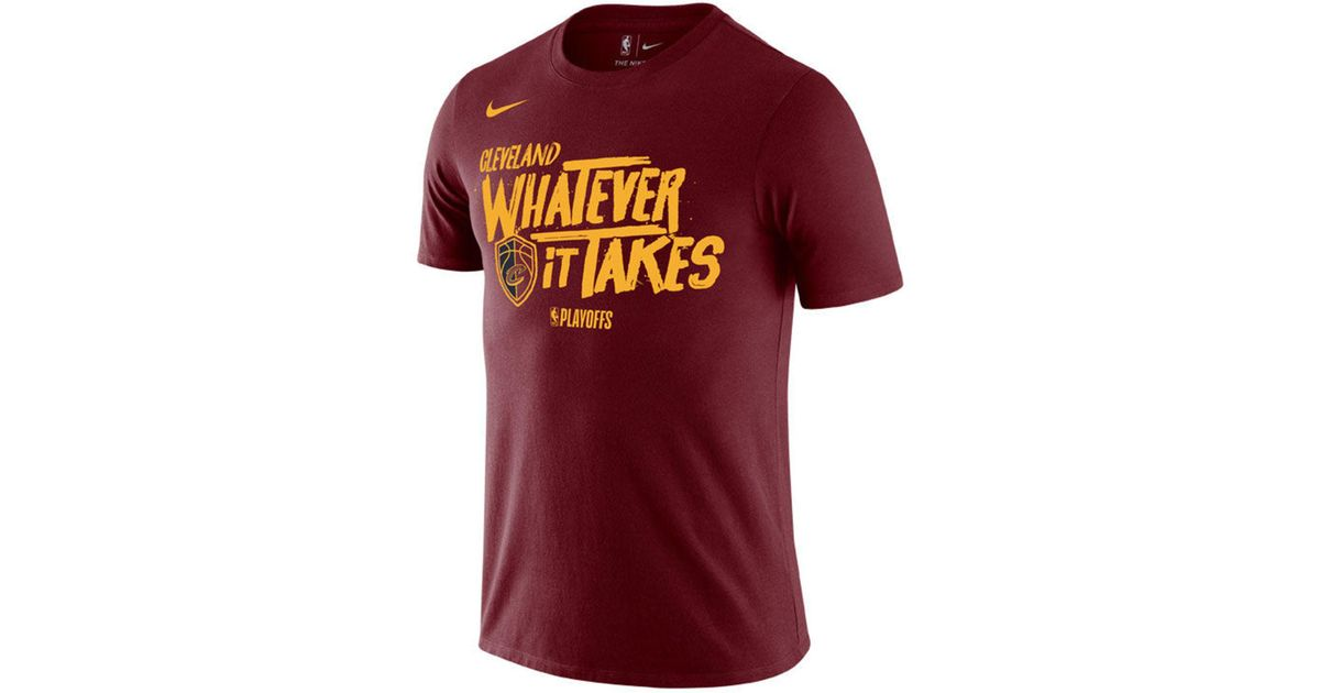 12102e9a698a Lyst - Nike Cleveland Cavaliers Playoff Mantra Legend T-shirt in Red for Men