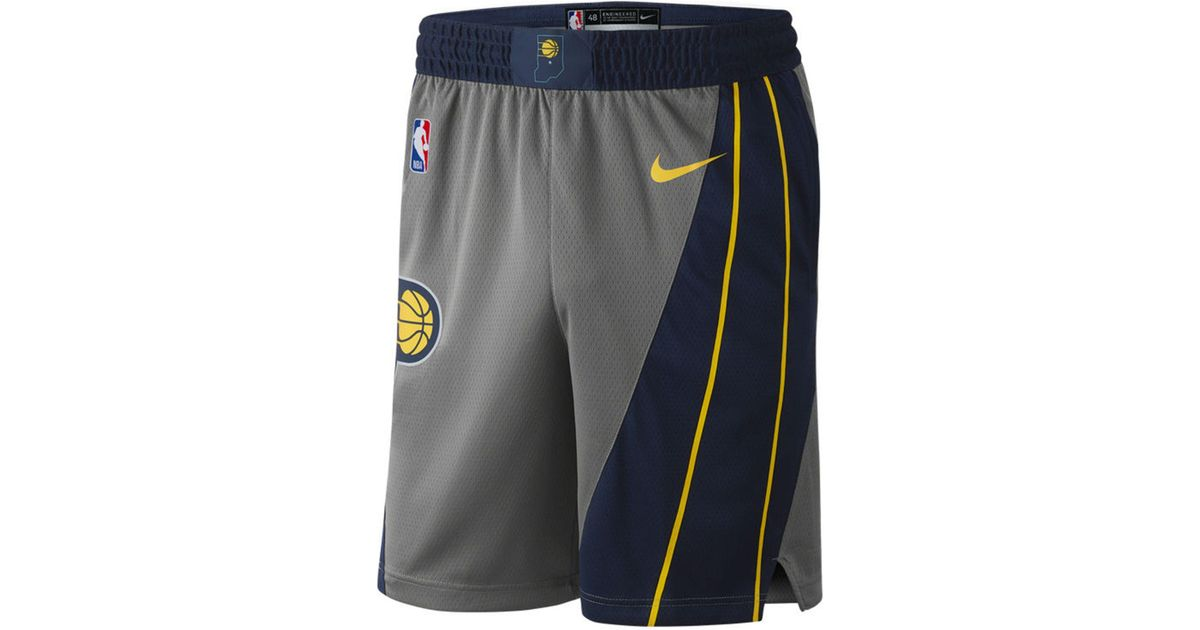 Lyst - Nike Indiana Pacers City Swingman Shorts in Gray for Men b0b57818c