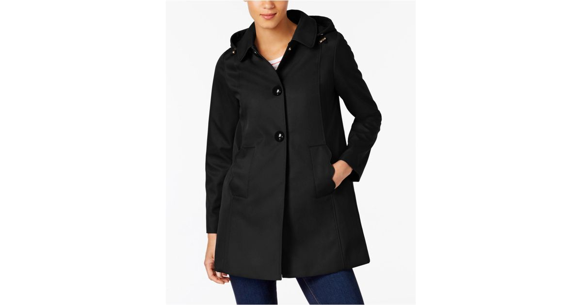 88257219ff09 Lyst - Kate Spade A-line Raincoat in Black